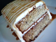 ... cake 6 pear ginger cake with whipped cream and rum caramel glaze