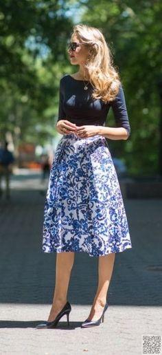 5. A #European Getaway - 25 Midi #Skirts to Absolutely #Enchant You ... →…