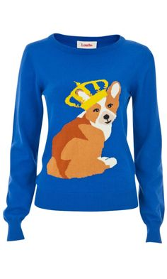 louche windsor corgi intarsia jumper animal sweater sweater shirt dog sweaters cute jumpers