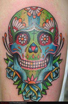 Fabulous Sugar Skull Tattoo Design Ideas