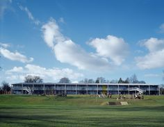 Elevation, Osborne Special School, Winchester, 2004, Hampshire County Council © Education Architecture, Electrical Engineering, Hampshire, Winchester, Schools, Architects, Landscape, Scenery, Hampshire Pig