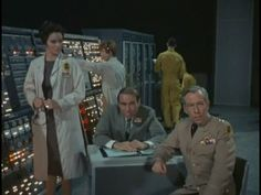 The Time Tunnel,Rendezvous with Yesterday Lee Meriweather, Whit Bissell, and Gary Merrill (centre)