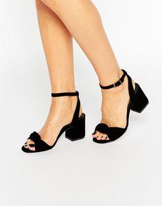 ea457a61f2e ASOS HALLMARK Velvet Heeled Sandals at asos.com