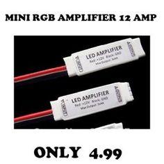 Mini 3 Key  Amplifier For RGB 5050 3528 LED Light Strip 12V