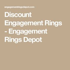 Discount Engagement Rings - Engagement Rings Depot
