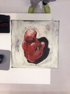 painting Marjolijn Spreeuwenberg studio AHvdK    http://allehoekenvandekamer.wordpress.com