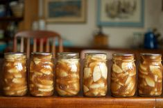 Apple pie filling-uses clear gel and apple cider