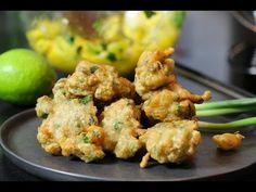 Recette exotique : accras de crevette créoles croustillants - YouTube