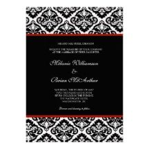 black white and red wedding invitations - Google Search