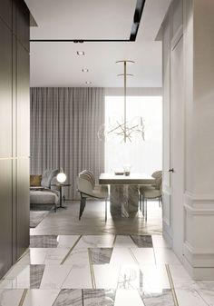 Helpful Strategies For modern home design interior Luxury Home Decor, Luxury Interior, Interior Architecture, Contemporary Interior Design, Decor Interior Design, Interior Decorating, Modern Classic Interior, Modern Contemporary, Floor Design