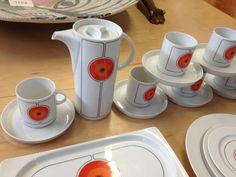 Thomas Germany Rosenthal Mid Century 'Eclipse' China 38 Pieces w Coffee Pot | eBay