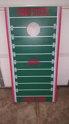 Ohio State Cornhole Bean bags Boards with 8 bags tournament regulation by WisconsinOutdoorGame on Etsy