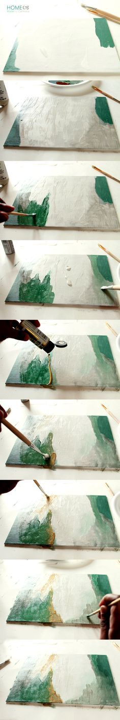 Step-by-Step DIY Abstract Art                                                                                                                                                                                 More