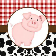 La Granja Bebés: Etiquetas para Candy Buffet para Imprimir Gratis. Farm Animal Party, Barnyard Party, Pig Party, Farm Party, Barn Parties, Western Parties, Farm Birthday, Birthday Party Themes, Sheriff Callie Birthday
