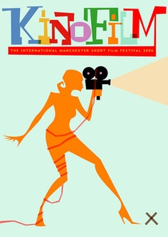 Kinofilm (Manchester short film festival) poster by Stan Chow, via Flickr