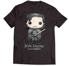 Game of Thrones T-Shirt Jon Snow Cartoon. Hier bei www.closeup.de