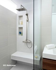 Best Modern Bathroom Shower Ideas For Small Bathroom Diy Bathroom, Bathroom Makeover, Shower Room, Small Bathroom Renovation, Modern Bathroom, Bathroom Shower, Small Bathroom Renovations, Bathroom Design, Bathroom Renovation