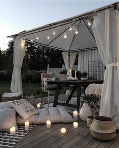 Bring Life to Your Outdoor Space so peaceful. Love all the grey tones.so peaceful. Love all the grey tones. Backyard Canopy, Canopy Outdoor, Outdoor Decor, Romantic Backyard, Gazebo Tent, Window Canopy, Canopy Curtains, Garden Canopy, Patio Canopy