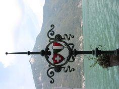 Swiss-Italian Border on Lake Lugano , Switzerland