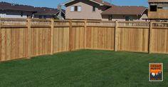 Board and Batten Privacy Fence w/ Lattice Top - Cedar Rustic Fence Co.