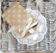 10 buste di carta a pois bianche, sacchetti di carta formato7x10cm, sacchetto regalo,lancio del riso