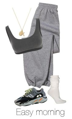 """Untitled #723"" by dejanadi ❤ liked on Polyvore featuring Gildan, Ozone, ERTH and Yeezy by Kanye West #FitnessFashion"