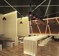 Modern Restaurant Interior Design Freelance Designer