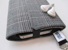 Nerd Herder gadget wallet in Suited - iPhone, Droid, iPod, cell phone, earbuds, SD cards, guitar pick case