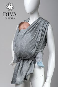 Diva Essenza 100% cotton: Argento - Baby Carrier, Baby Wrap