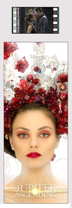 Jupiter Jones (actress Mila Kunis) stands proud in her beautifully ornate attire. This is a special edition collectible, laminated bookmark that boasts a clip of real 35mm film from the Jupiter Ascending movie. #nesteduniverse