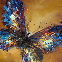 Abstract Oil Painting On Canvas Butterfly Hand by SILVESTROMEDIA, $199.99