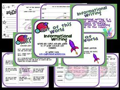 Out of This World Informational Writing-FREEBIE