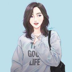 Drawing Couple Poses Cartoon New Ideas Anime Art Girl, Manga Girl, Illustration Girl, Character Illustration, Drawing Couple Poses, Digital Art Girl, Korean Art, Korean Anime, Beautiful Anime Girl