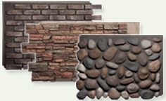 Faux panels look like real stone, wood but are easy to install indoors or out. FauxPanels.com