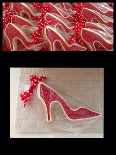 Red high heels sugar cookie