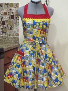Bart Simpson Full of Flounce Apron  With a hint by AquamarCouture, $37.00