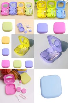 Back To Search Resultsapparel Accessories Objective Kawaii Contact Lens Case Container With Mirror Color Contact Lenses Pink Case Cute Lovely Travel Kit Box Women Online Shop Eyewear Accessories