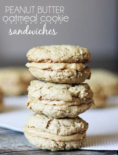 Peanut Butter Oatmeal Cookie Sandwiches