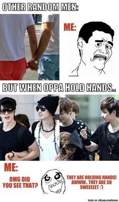 When men holding hands..