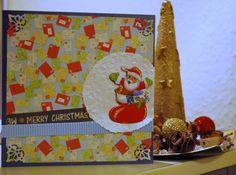 Santa Card for Christmas. Handmade