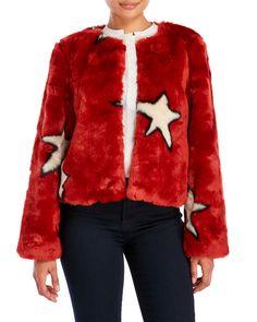 Alphamoment Star Faux Fur Jacket