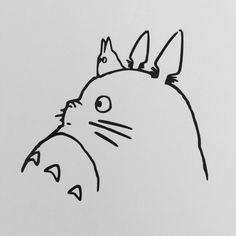 Totoro Vinyl Decal by ArkhamsThings on Etsy