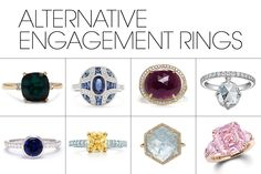 35 Alternative Engagement Rings - Non-Traditional Settings and Stones for Brides - Elle
