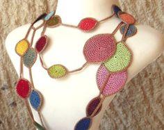 Lasso-Halskette grüne Blume türkische Oya häkeln von PashaBodrum