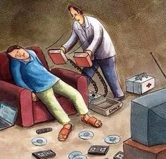 15 Drawings That Will Affect Those Who Think of Reading As Part Of Book - Nursery Ideas Satire, Pictures With Deep Meaning, Art With Meaning, I Love Books, Books To Read, My Books, Satirical Illustrations, Meaningful Pictures, Humor Grafico