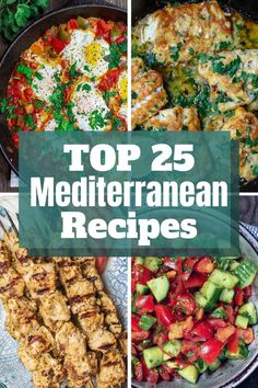 Give your meals a bright, flavor-packed Mediterranean twist! These top 25 wholesome Mediterranean recipes from the experts at The Mediterranean Dish. Flavors from Greece to Morocco, the Middle East & Easy Mediterranean Diet Recipes, Mediterranean Dishes, Clean Eating, Healthy Eating, Eating Well, Diet Meal Plans, Meal Prep, Greek Recipes, Arabic Recipes