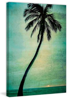 Lone Palm Painting Print on Wrapped Canvas