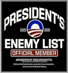 president's enemy list by Tahneelynn, via Flickr