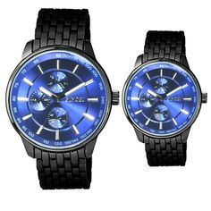 S9268GL Multiple color dial metal band stainless steel back men and wo - YH(Sinobi) International
