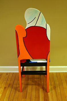 Picasso Seated Woman with Book upscaled chair painted por FendosArt